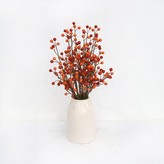 Threshold Artificial Orange Berry Arrangement in White Pot Large