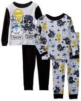 Disney Star Wars Little Boys Toddler 4 Pc Cotton Pajama Set