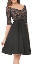 JS Collections Women's Embellished Fit & Flare Dress