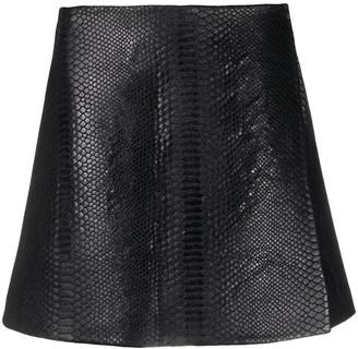 Ermanno Scervino Snakeskin Embossed Mini Skirt