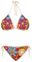 Anna Kosturova Millefiori floral-crochet bikini