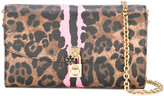 Dolce & Gabbana leopard print clutch bag - women - Cotton - One Size