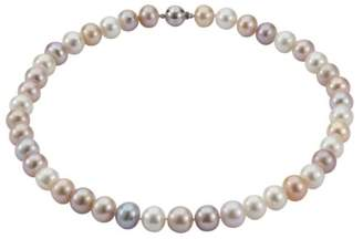 Adriana Women's Necklace Freshwater Cultured Pearls Multi-Coloured 14 Carat 585 White Gold with PR 6-1