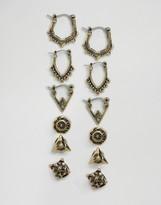 Asos Pack of 6 Hoop and Stud Earrings