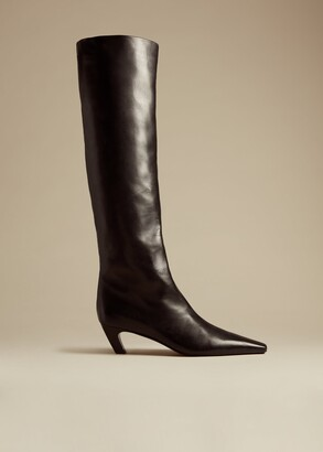 KHAITE The Davis Boot in Black Leather