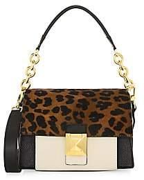 Furla Women's Mini Diva Leopard Patchwork Leather Shoulder Bag