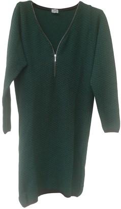 Siyu Green Wool Dress for Women