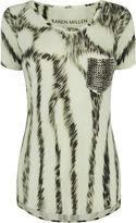 Karen Millen Pocket Stud T-shirt - White/multi