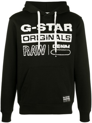 G Star Originals logo print hoodie