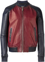 DSQUARED2 contrasted leather bomber jacket - men - Cotton/Leather/Polyester - 48