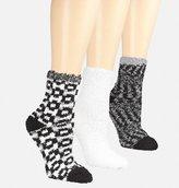 Avenue Oxford Print Cozy Socks 3-Pack