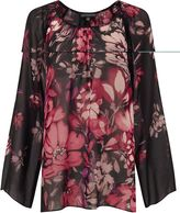 Adrianna Papell Black and pink floral top