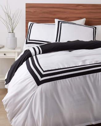 +Hotel by K-bros&Co Vcny Home White & Black Hotel Reversible Duvet Cover Set