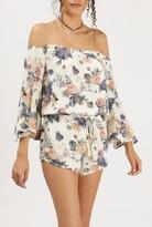 Azalea Off Shoulder L/S Floral Dress