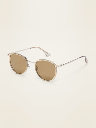 Old Navy Round Clear-Frame Sunglasses for Men