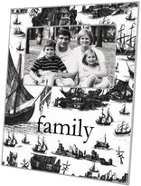The Well Appointed House Boat Toile Decoupage Picture Frame-Available in 9 Different Colors-Can be Personalized