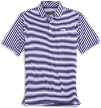Southern Tide TCU Horned Frogs Striped Polo Shirt