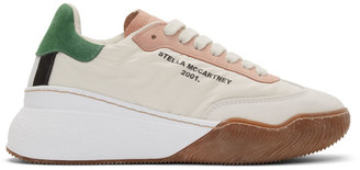 Stella McCartney Off-White Loop Lace-Up Sneakers