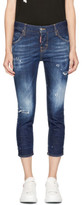 DSQUARED2 Indigo Cool Girl Crop Jeans