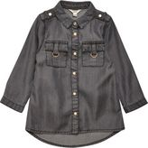 River Island Mini girls grey tencel shirt