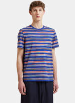 Missoni Striped T-shirt In Blue