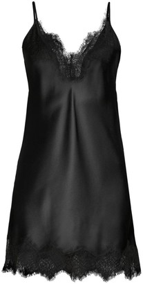 Arabella Lace-Trim Silk Chemise