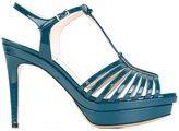 Fendi T-bar platform sandals - women - Leather/Patent Leather - 36