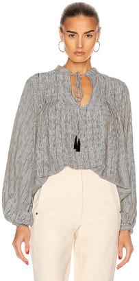 Natalie Martin Lizzy Shirt in Navy Stripe | FWRD