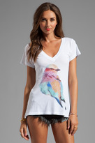 Wildfox Couture Bright Wing Bird Classic V-Neck Tee