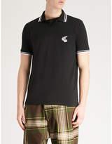 Anglomania Orb-embroidered cotton-piqué polo shirt