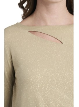 Vince Camuto Women's Sparkle Jersey Cutout Top