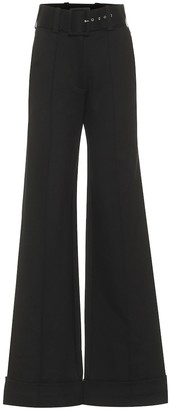 Victoria Victoria Beckham Belted high-rise jersey pants