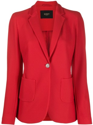 Seventy Mesh Effect Fitted Blazer