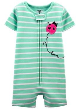Carter's Toddler Girls Ladybug Snug Fit Romper Pajama Set