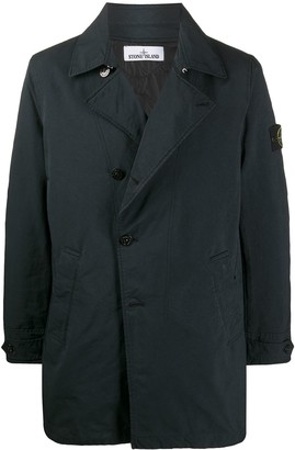 Stone Island Logo Patch Single Breasted Coat