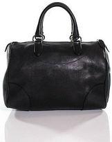 Ralph Lauren Black Leather Small Double Handled Satchel Handbag