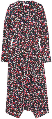 Equipment Neema Wrap-effect Floral-print Crepe De Chine Dress