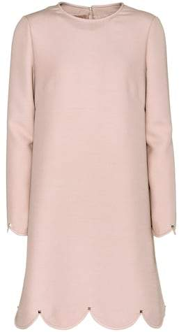 Valentino Wool and silk long-sleeved dress