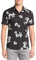 7 Diamonds 'My Wish' Short Sleeve Floral Print Sport Shirt
