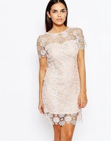 Club L Shift Dress In All Over Crochet