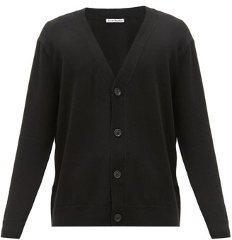 Acne Studios V-neck Button-through Wool-blend Cardigan - Black