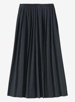 Toast Pleated Cotton Poplin Skirt