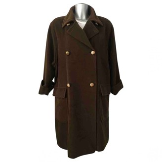 Max Mara Green Wool Coat for Women