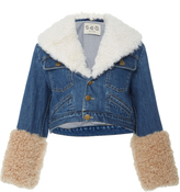 Sea Dunaway Shearling Denim Jacket