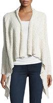 Bobeau Textured Waterfall Sweater, Cream
