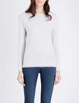 The White Company Fringe-trim wool jumper