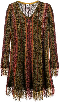 M Missoni fringed long-sleeved dress