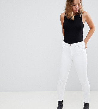 ASOS DESIGN Petite Ridley high waisted skinny jeans in white