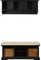 Beachcrest Home Douglas Upholstered Storage Bench Color: Black