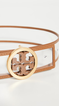 Tory Burch Clear Logo Belt